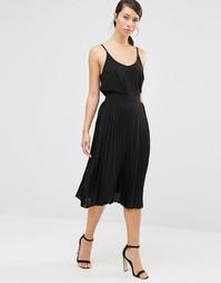 Черная плиссированная юбка миди Lavand - Черный