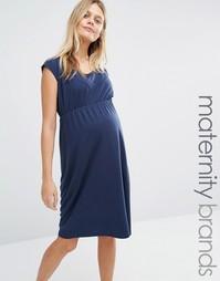 Платье для беременных Mamalicious Peri - Черный ирис Mama.Licious