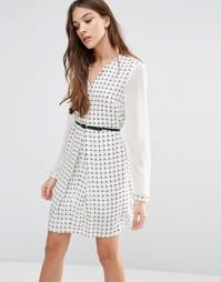 Платье-рубашка с ремнем Lavand - Белый