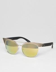 Зеркальные солнцезащитные очки кошачий глаз Quay Australia Zig