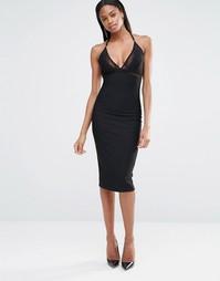 Облегающее платье на бретельках с сетчатыми вставками Missguided