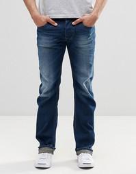 Темные прямые джинсы Diesel Larkee 853U - Темный потертый
