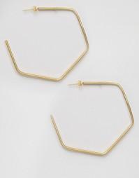 Серьги в форме гексагона Made - Золотой