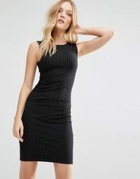 Платье в тонкую полоску Y.A.S Penno - Черный в полоску