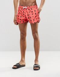 Короткие шорты для плавания с принтом Abuze London - Красный