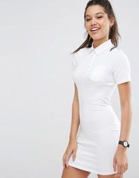 Платье-рубашка поло ASOS - Белый