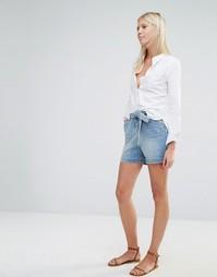 Джинсовые шорты с завышенной талией и ремнем Vero Moda