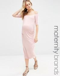 Облегающее платье для беременных Bluebelle Maternity - Розовый