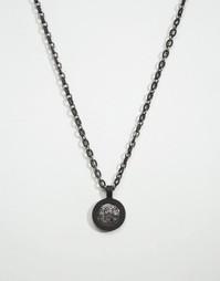Черное ожерелье с медальоном Icon Brand эксклюзивно для ASOS - Черный