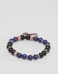 Синий браслет из бусин Icon Brand эксклюзивно для ASOS - Синий