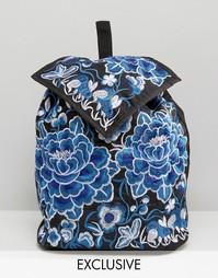 Рюкзак с вышитыми цветами Reclaimed Vintage - Синий