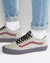 Бежевые кроссовки с пиксельным принтом Vans X Nintendo Old Skool V4OJJ