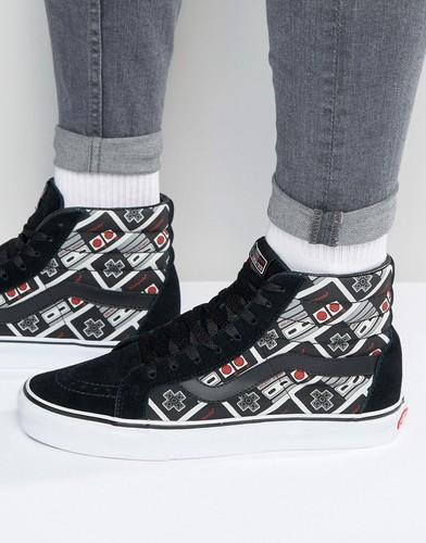 Высокие черные кроссовки с принтом Vans X Nintendo Sk8 V4OKJUS