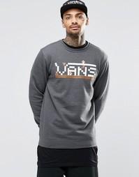 Серый трикотажный свитшот с круглым вырезом и длинными рукавами Vans x