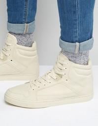 Высокие кроссовки со вставками ASOS - Серо-коричневый