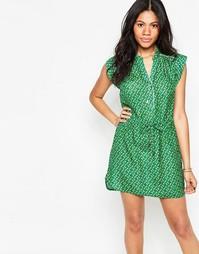 Зеленое платье со шнурком на талии Deby Debo Macaron - Зеленый