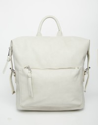 Рюкзак с клипсами на боку ASOS - Серый