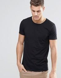 Черная футболка с круглым вырезом Boss Orange - Черный