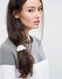 Повязка на голову с жемчужной отделкой ASOS - Кремовый