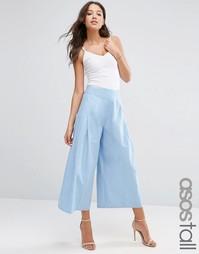 Юбка-брюки со складками спереди ASOS TALL - Синий
