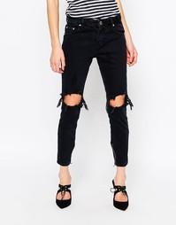Облегающие джинсы с дырками на коленях Glamorous - New black