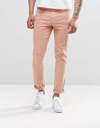 Облегающие джинсы розового цвета ASOS - Коричнево-красная роза