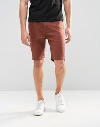 Джинсовые шорты слим ASOS - Fryer brown
