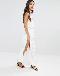 Платье макси с вышивкой Vero Moda - Белый