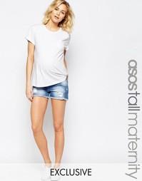Джинсовые шорты для беременных ASOS Maternity TALL - Светлый