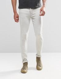 Рваные зауженные джинсы Other UK - Stone