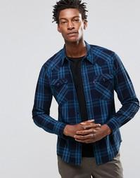 Клетчатая рубашка цвета индиго в стиле вестерн Levi's Barstow Levi's®
