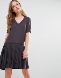 Платье со складками Y.A.S Aya - Серый