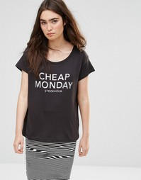 Футболка с принтом Cheap Monday - Punk black