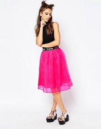 Расклешенная юбка миди Jaded London - Розовый