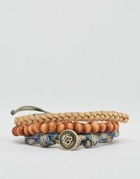 Набор браслетов из веревки и бусин Icon Brand - Мульти