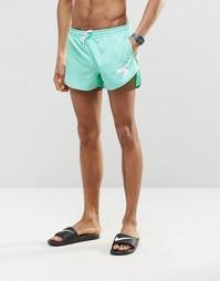 Короткие шорты для плавания цвета морской волны Abuze London - Зеленый