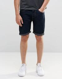 Джинсовые шорты цвета темный индиго D-Struct - Синий
