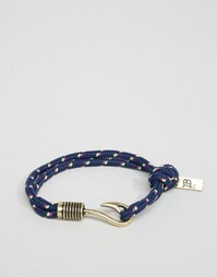 Темно-синий браслет‑веревочка с крючком Icon Brand - Мульти