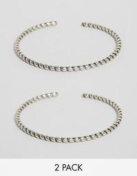 Комплект из двух браслетов-манжет на предплечье ASOS - Серебряный