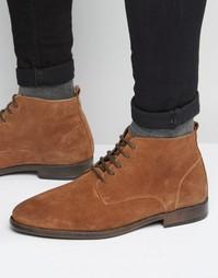 Замшевые ботинки чукка на шнурках с выжженным эффектом ASOS - Рыжий