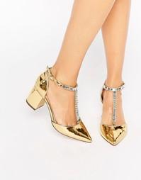 Туфли на каблуке с заостренным носком и отделкой ASOS SANTIAGO