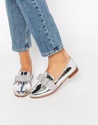 Туфли на плоской подошве ASOS MISSY - Серебряный