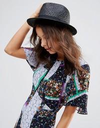Соломенная шляпа ASOS - Черный