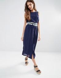 Платье миди Lavand - Синий