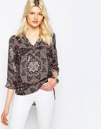 Блузка с мозаичным принтом Only Fallow - Розовая дымка