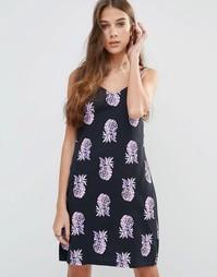 Платье-сорочка на бретельках Your Eyes Lie - Рисунок с ананасом