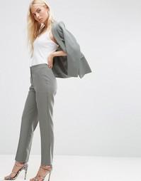 Приталенные брюки ASOS Premium - Шалфей
