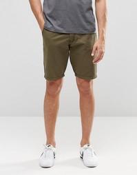 Зеленые прямые шорты чиносы Blend - Пыльно-зеленый