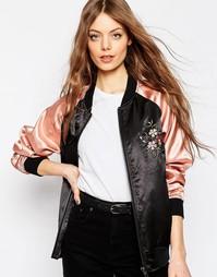 Куртка-пилот с цветочной вышивкой ASOS Premium - Мульти