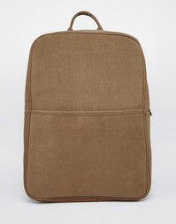 Коричневый рюкзак из искусственного нубука ASOS - Коричневый